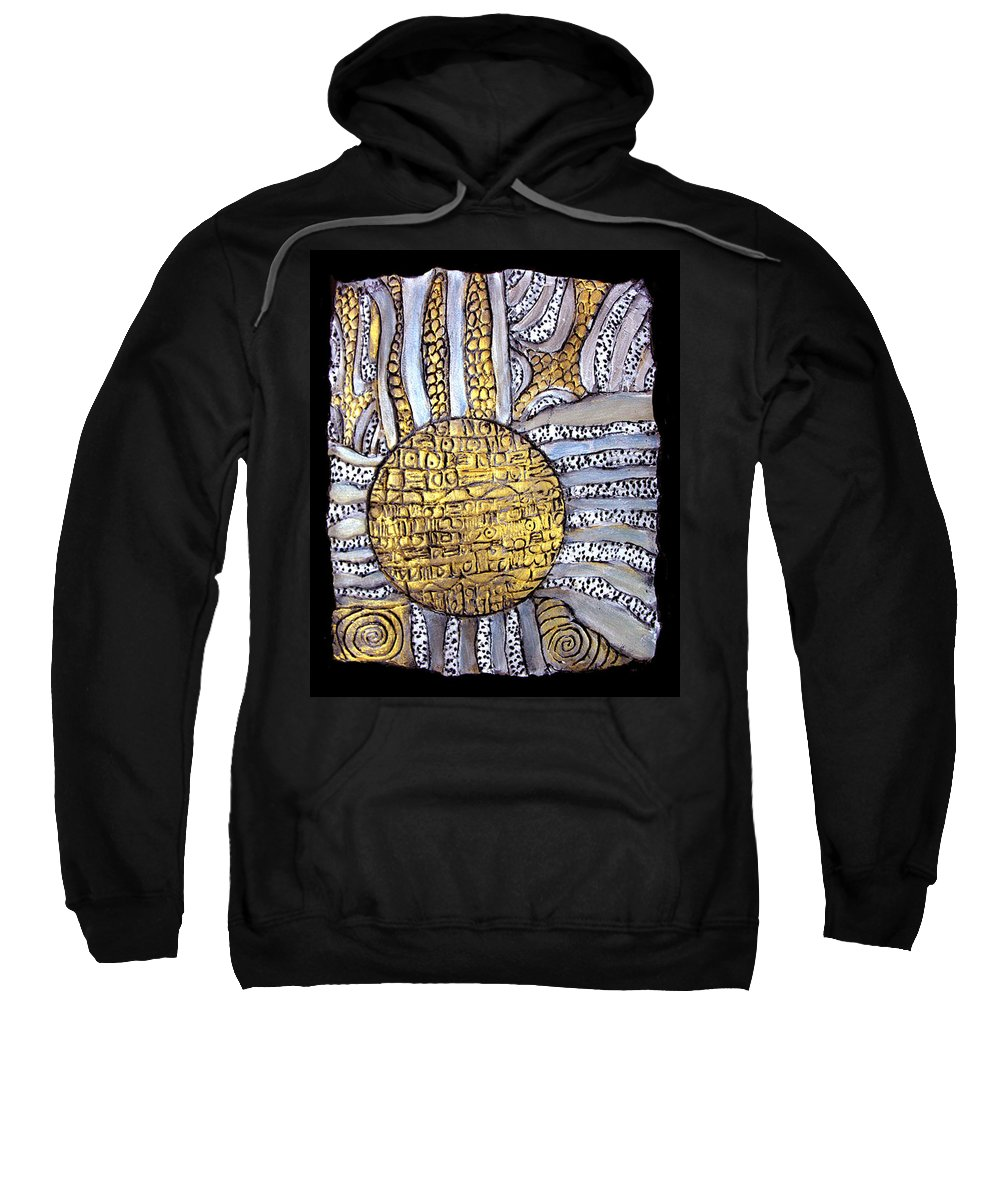 Metal Sweatshirt featuring the painting Honor To The Sun by Wayne Potrafka