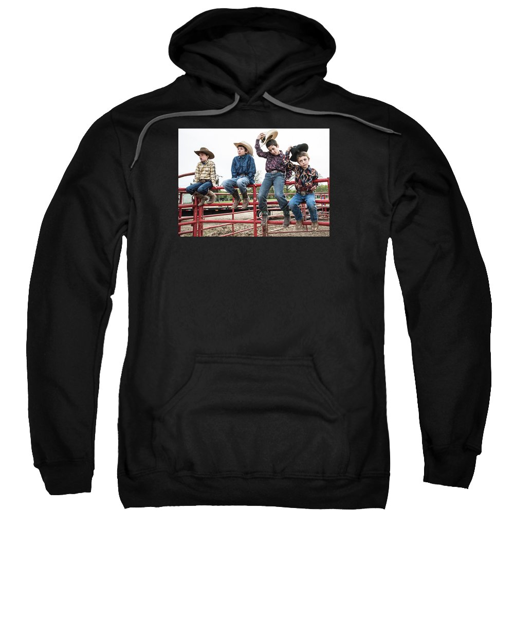 University Of Illinois Rode Club Sweatshirt featuring the photograph Honoring A Fallen Cowboy by Terry Brown