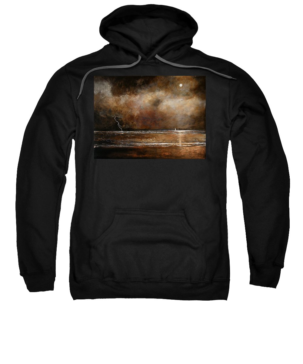 Abstract Sweatshirt featuring the painting Hope On The Horizon by Toni Grote