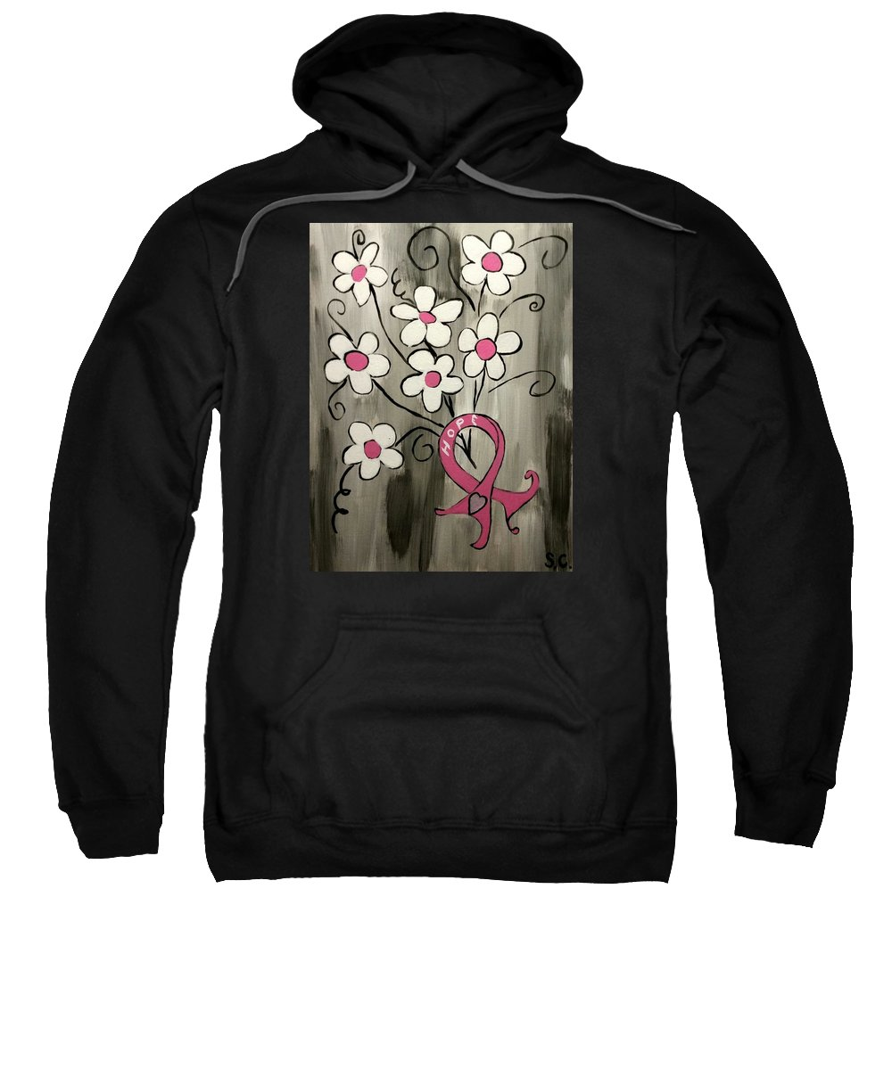 Hope Sweatshirt featuring the painting Hope by Stephanie Carriere