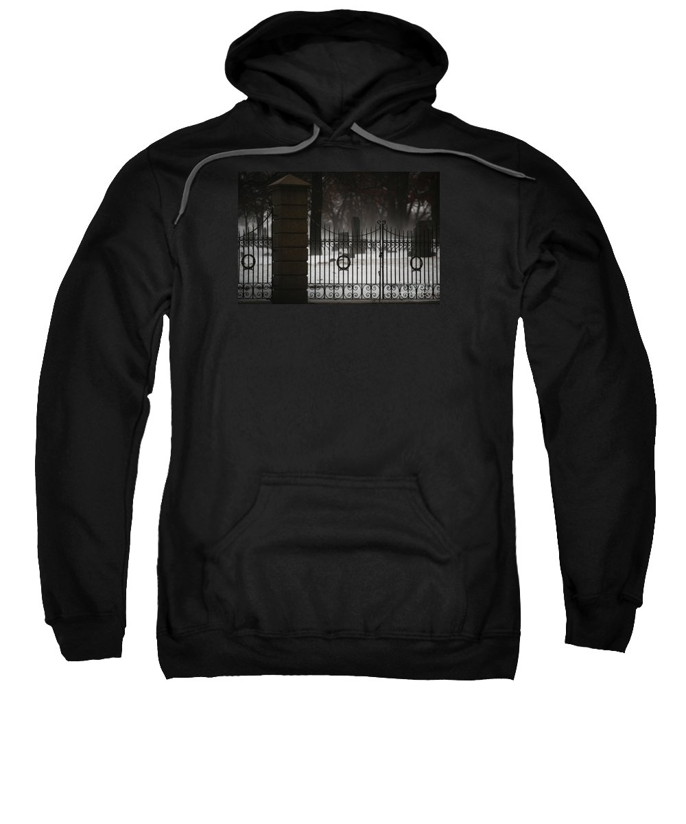 Fence Sweatshirt featuring the photograph Hopeful Expectation by Linda Shafer