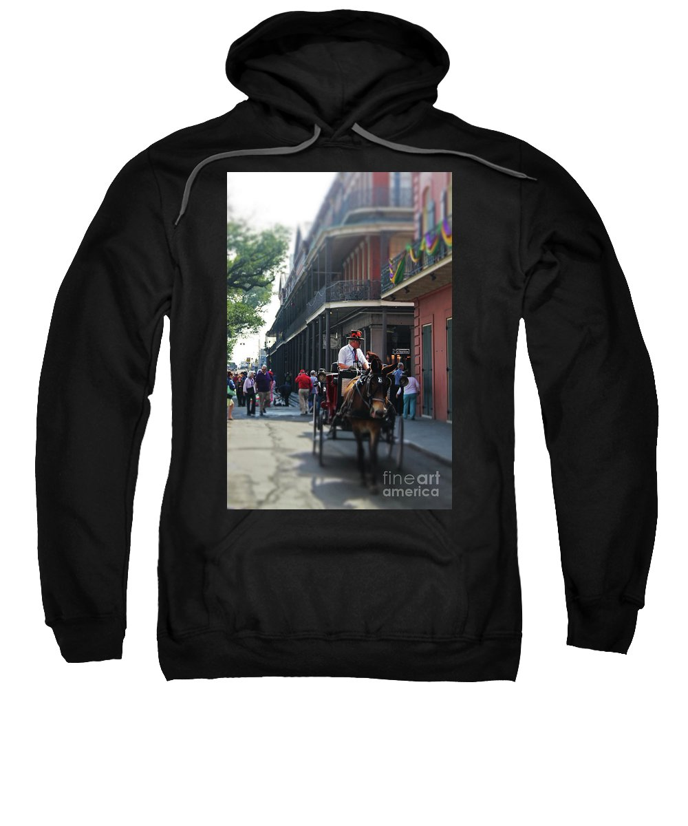Photo Sweatshirt featuring the photograph Horse Carriage Ride by James Foshee
