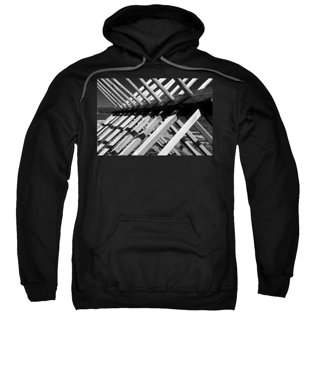 Fence Sweatshirt featuring the photograph Horse Fence by Jean Macaluso