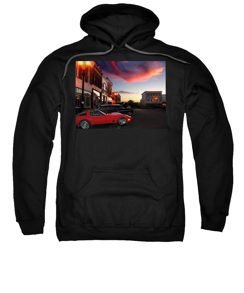 Car Sweatshirt featuring the photograph Hot Night by Steve Karol