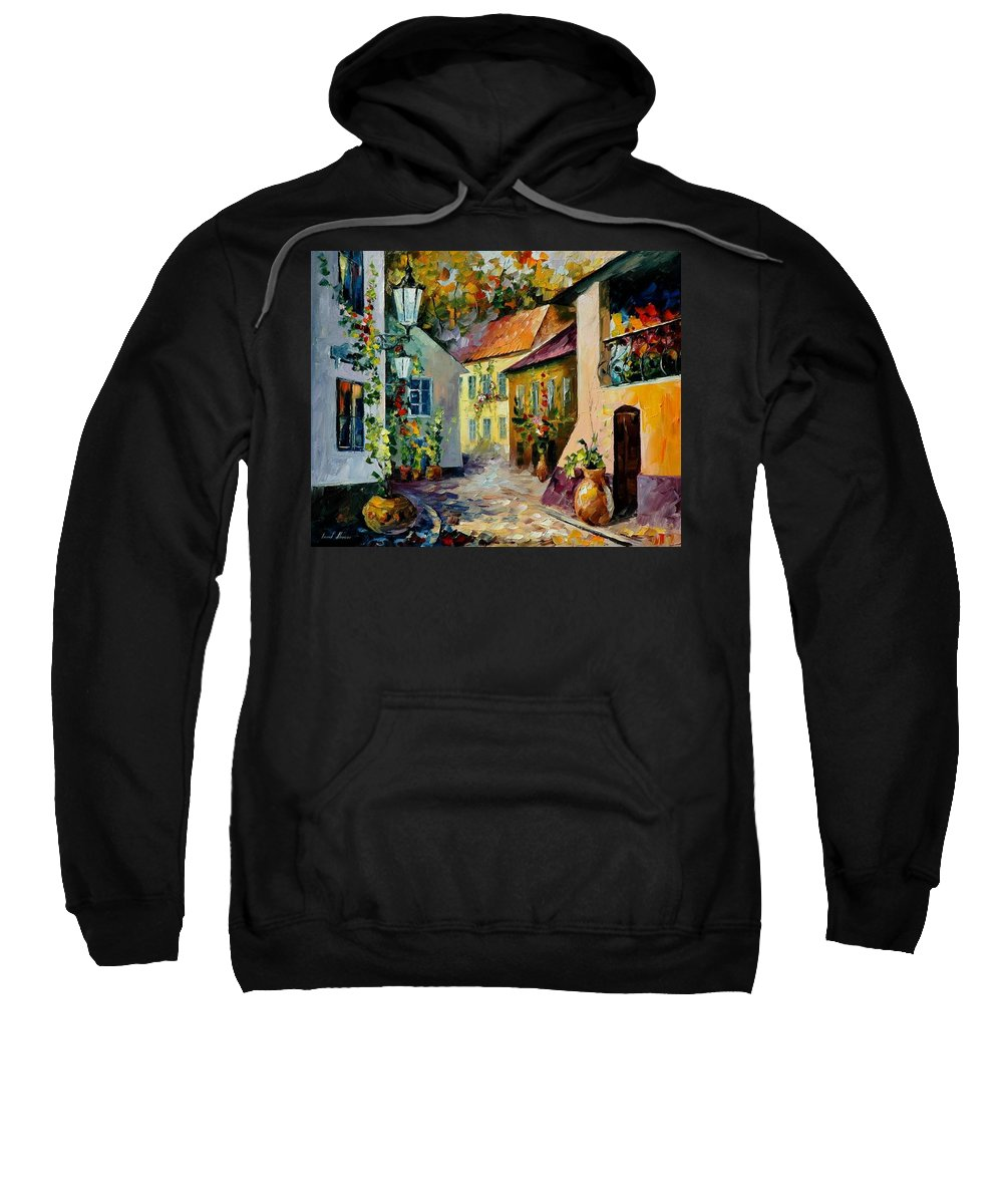 Landscape Sweatshirt featuring the painting Hot Noon Original Oil Painting by Leonid Afremov