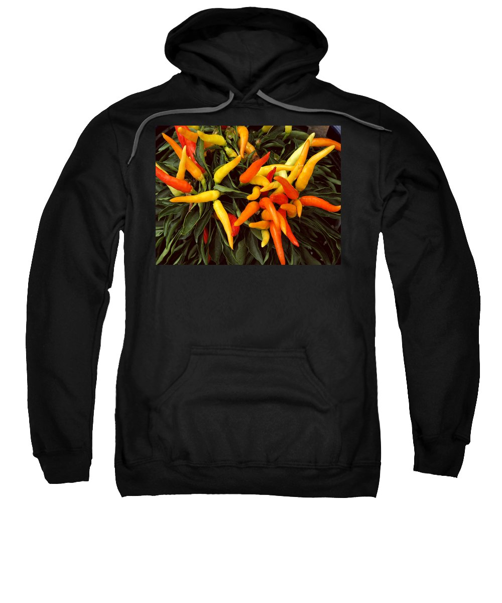 Peppers Sweatshirt featuring the photograph Hot by Peg Urban