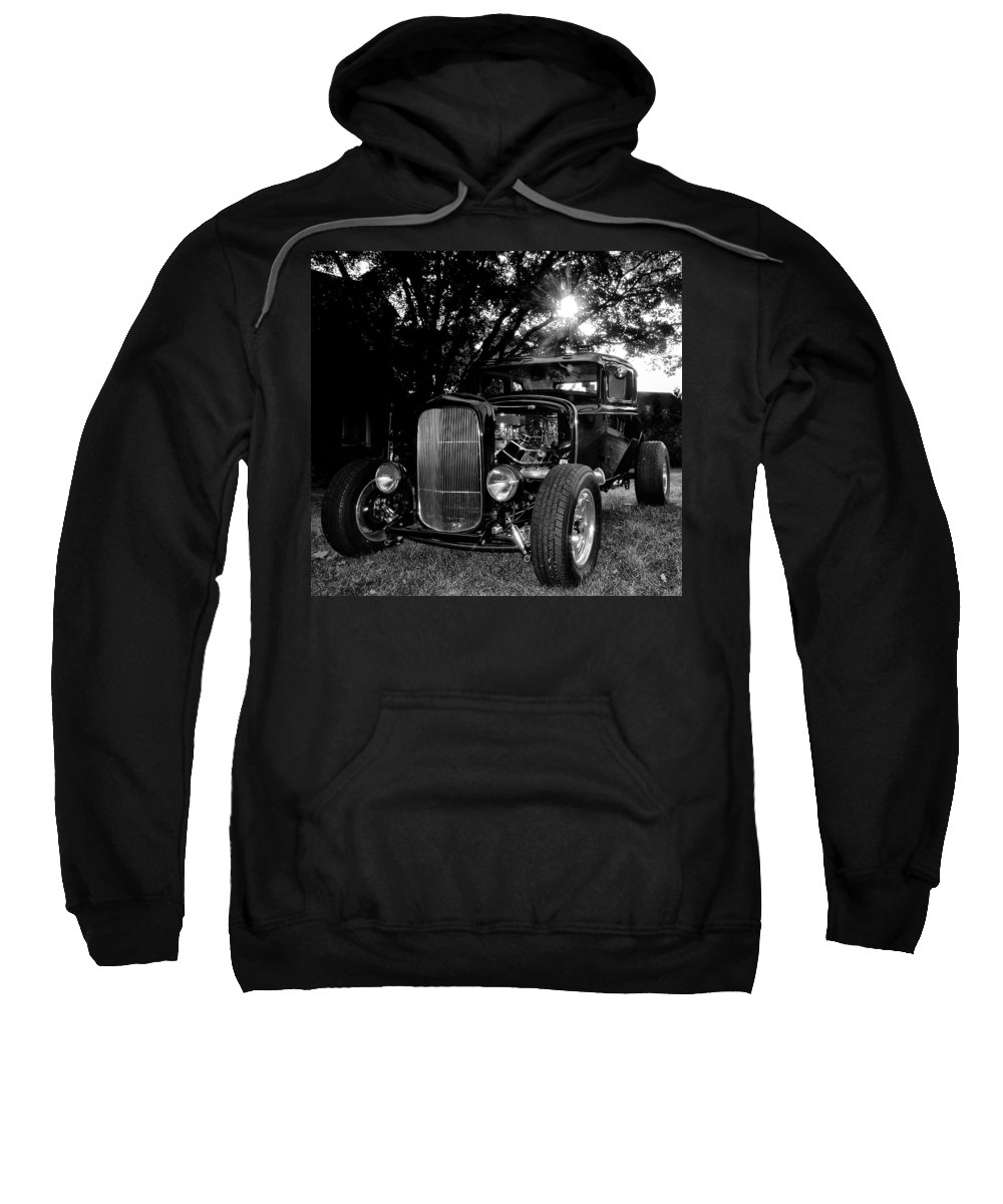 Ford Model A Sweatshirt featuring the photograph Hot Rod - Ford Model A by Bill Cannon