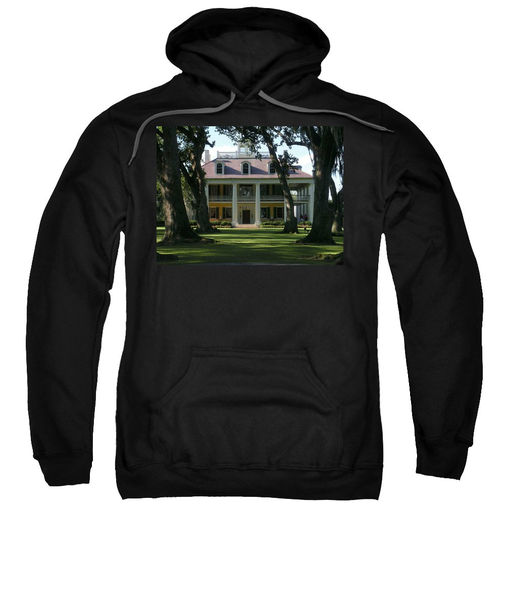 Houmas Sweatshirt featuring the photograph Houmas House Plantation by Nelson Strong