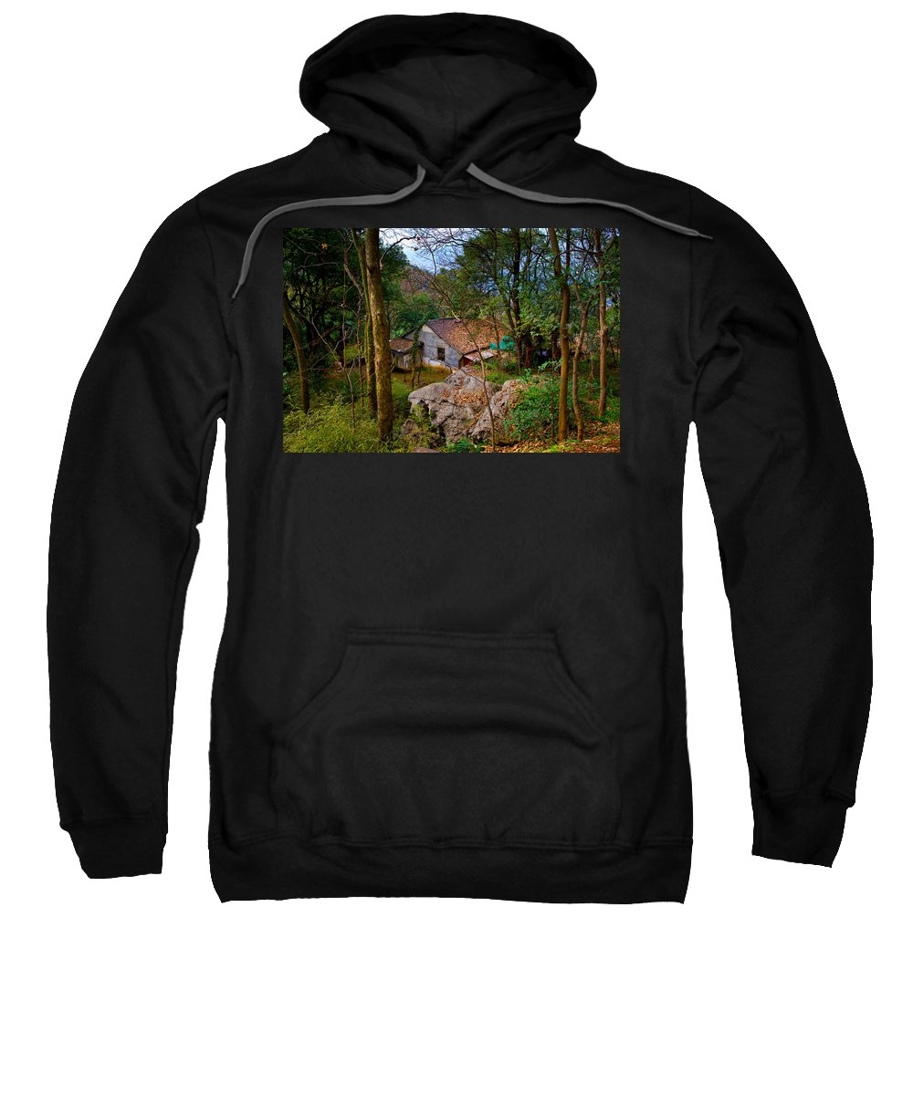 Landscape Sweatshirt featuring the photograph House In China Woods by James O Thompson
