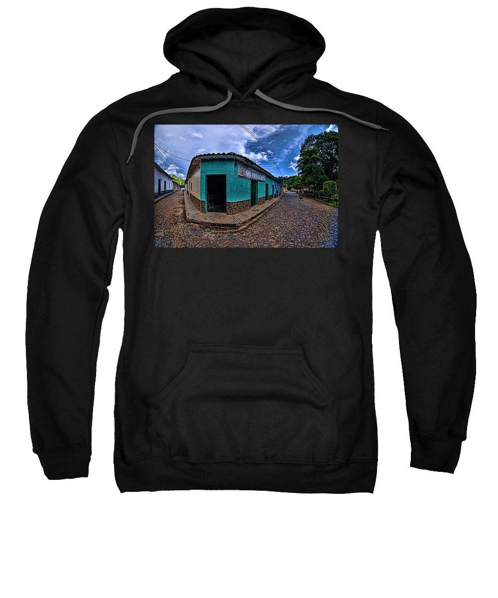 House Sweatshirt featuring the photograph House Of Altagracia De Orituco by Galeria Trompiz