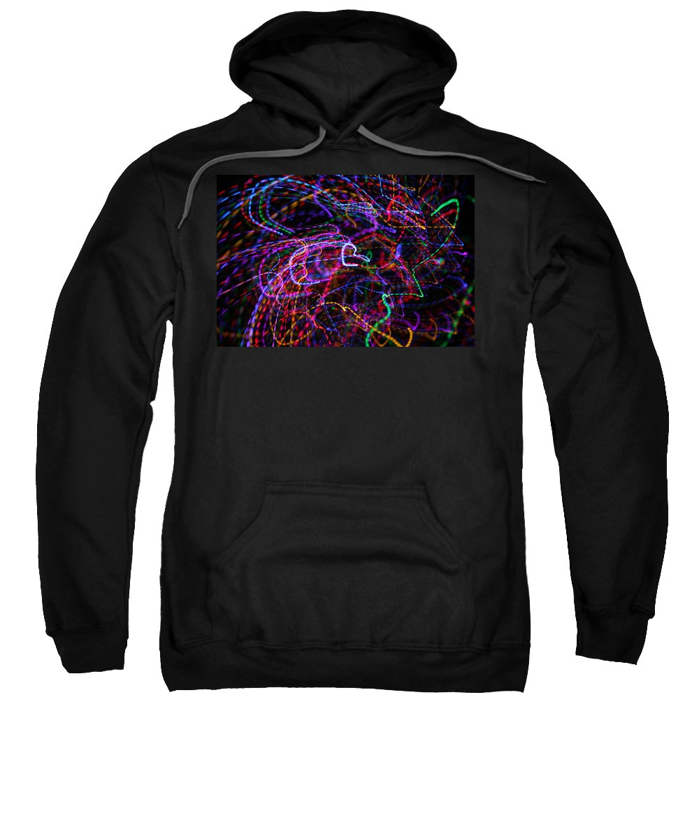 Light Painting Sweatshirt featuring the photograph How Hearts Are Made by Ric Bascobert
