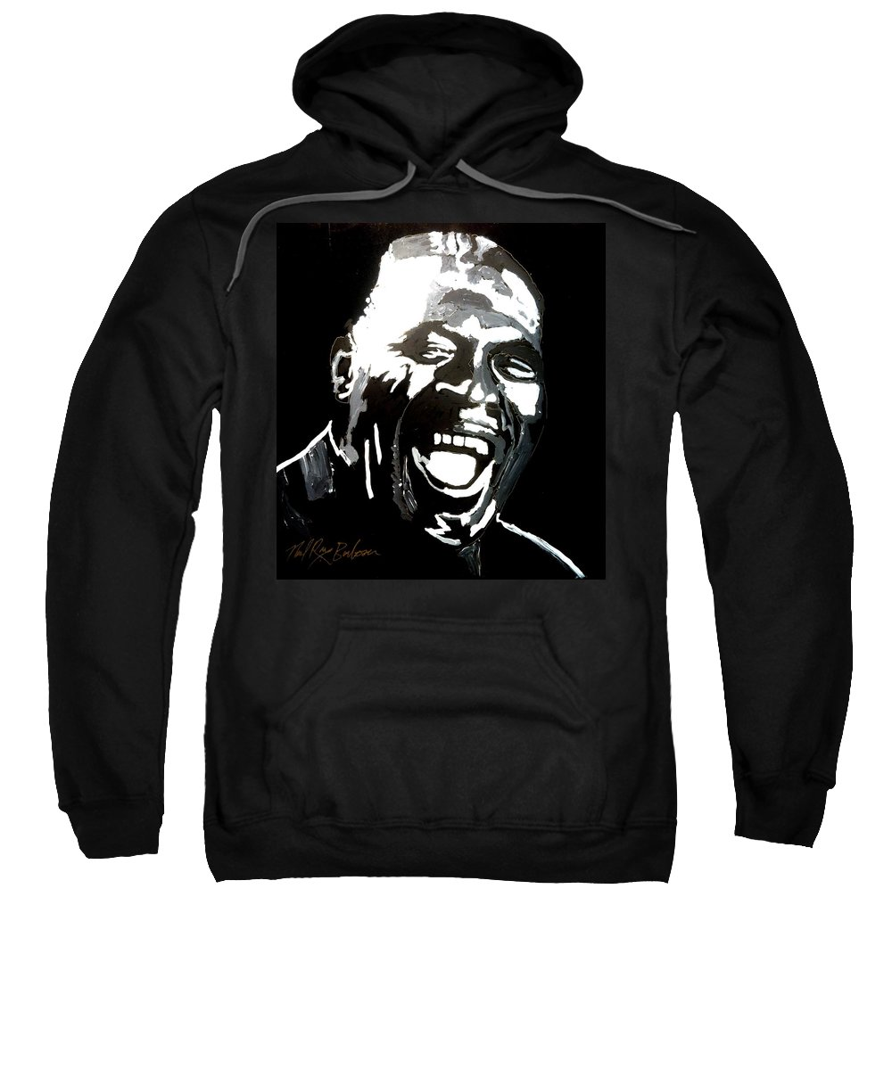 Howlin Wolf Sweatshirt featuring the painting howlin Wolf by Neal Barbosa