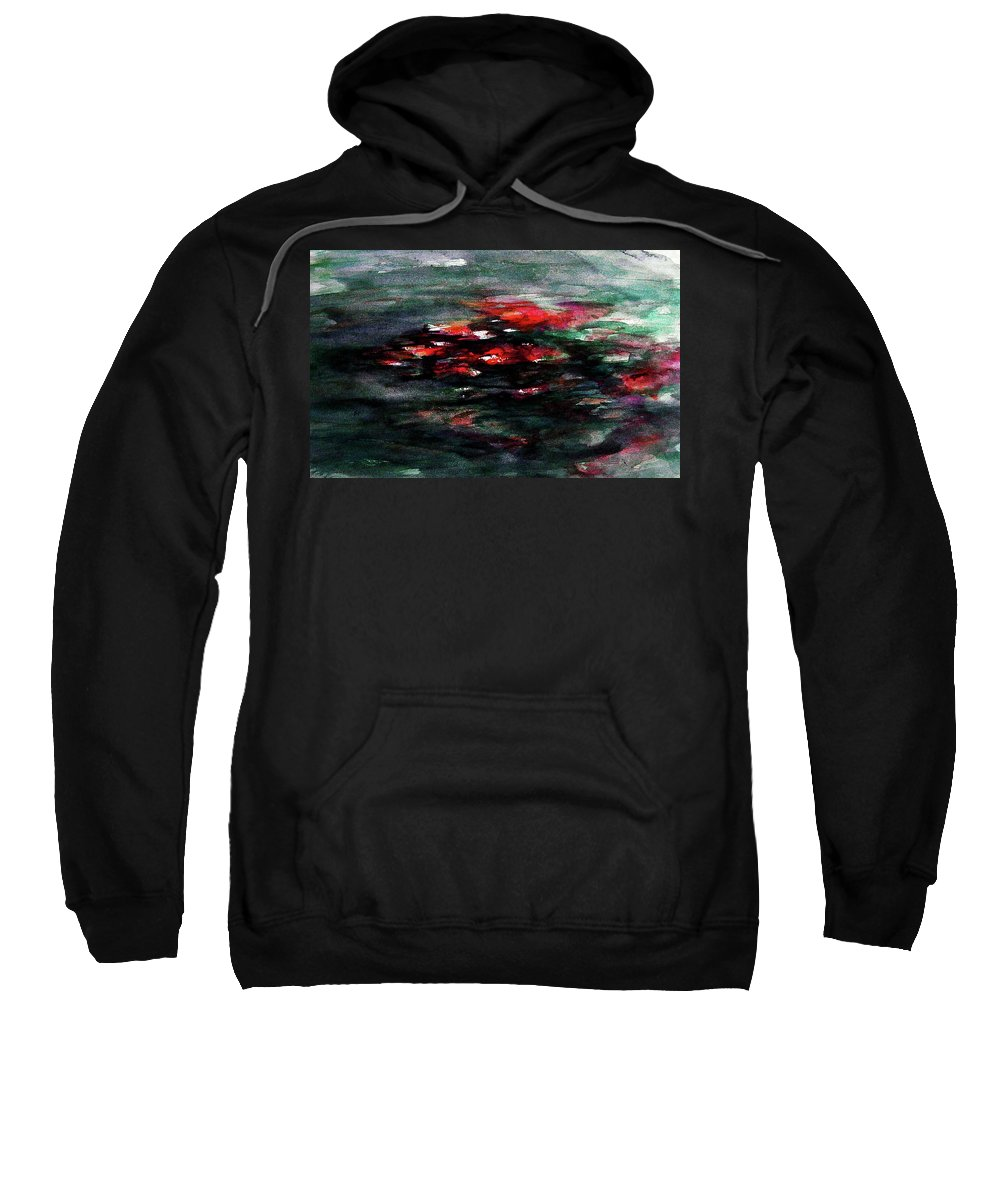 Abstract Sweatshirt featuring the painting Hypnotic Alterations by William Russell Nowicki