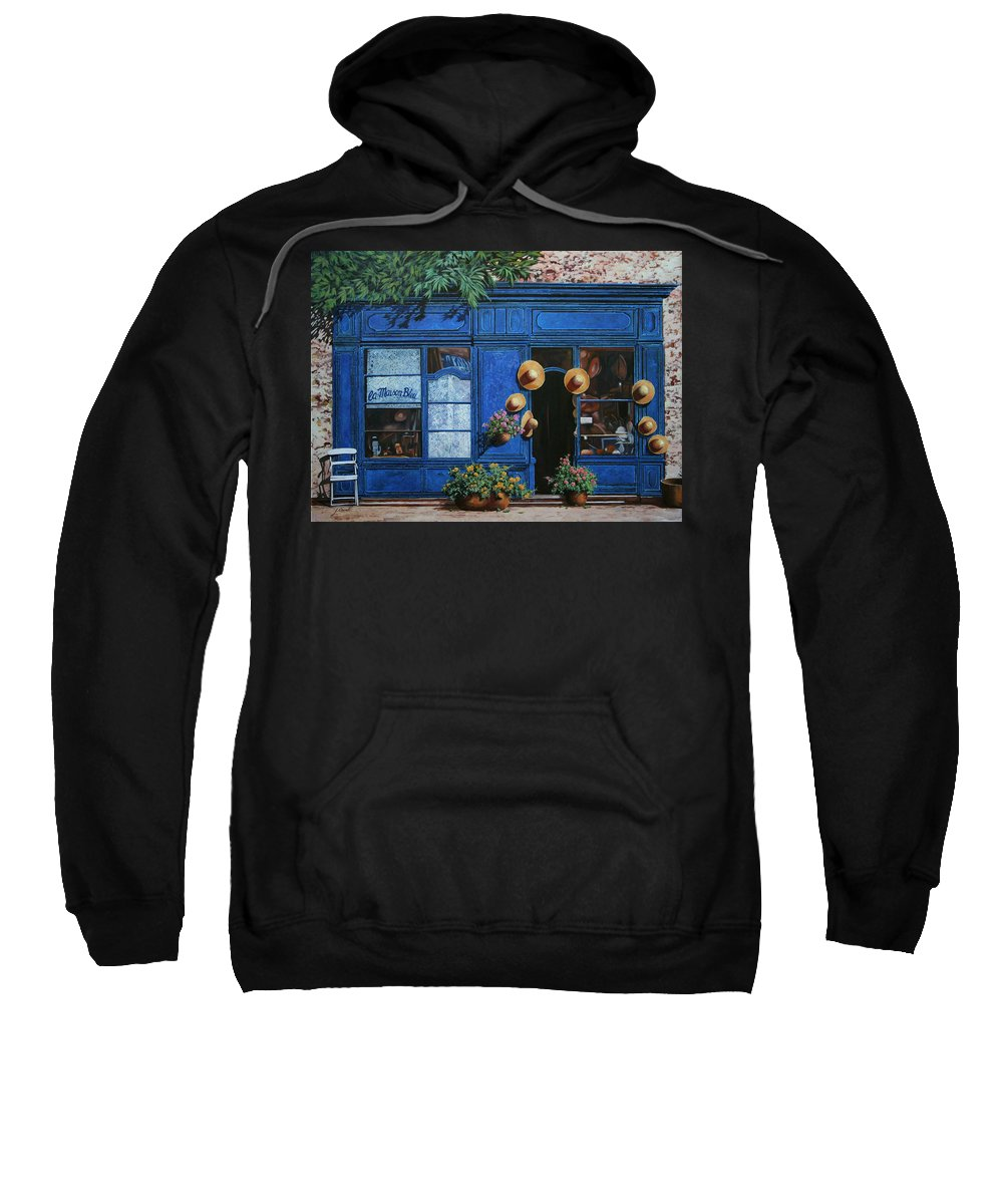 Shop Sweatshirt featuring the painting I Cappelli Gialli by Guido Borelli