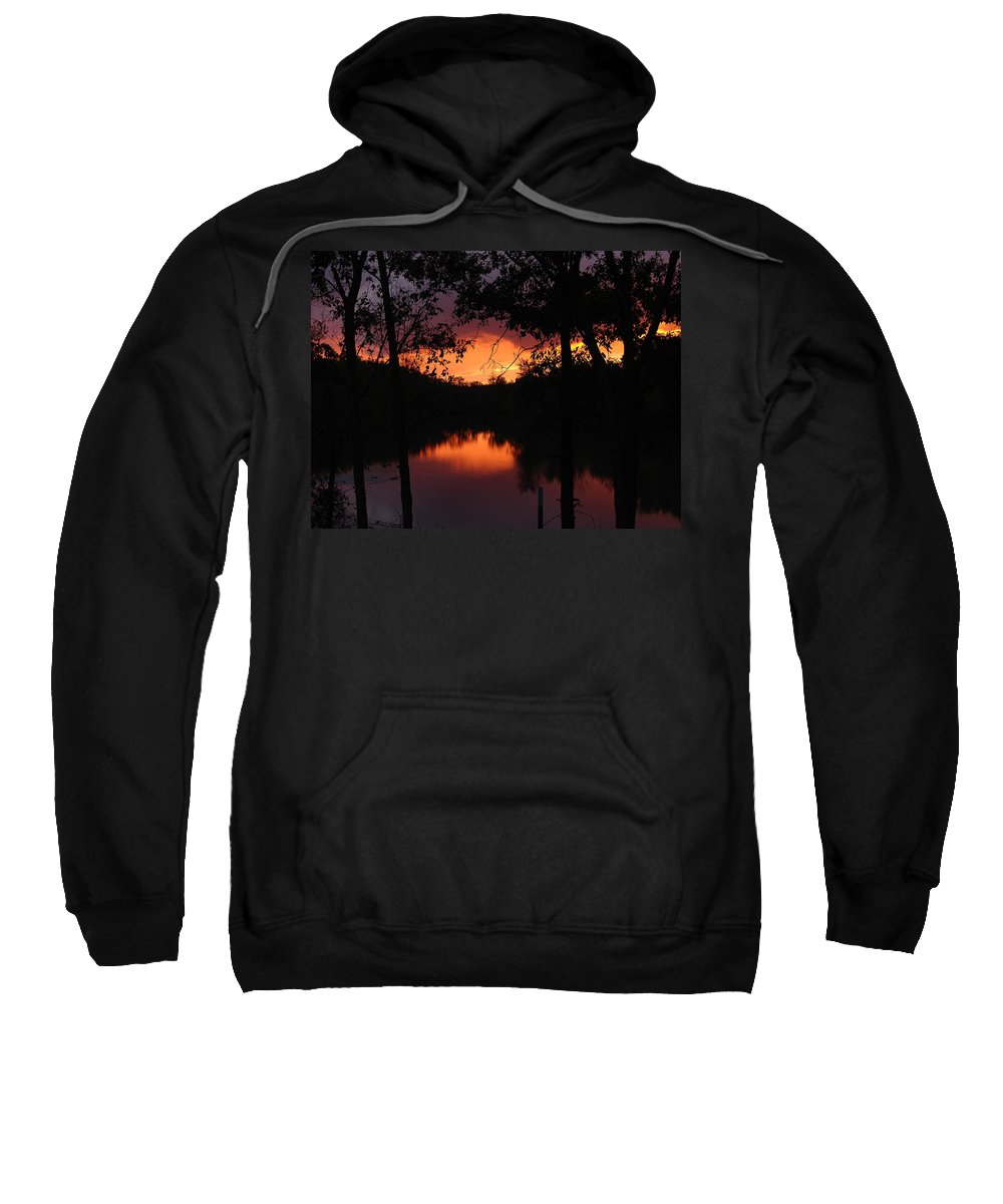 Sunset Sweatshirt featuring the photograph I Found Red October by J R Seymour