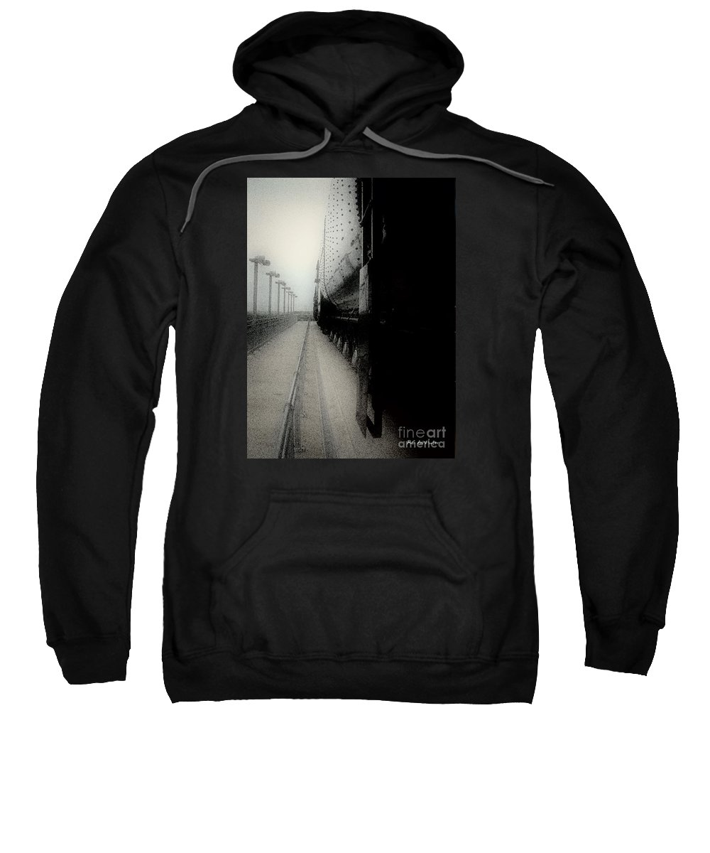 Train Sweatshirt featuring the digital art I Hear That Lonesome Whistle Blow by RC DeWinter