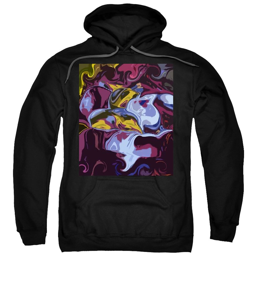 Abstract Sweatshirt featuring the digital art I Love Birds by Lenore Senior