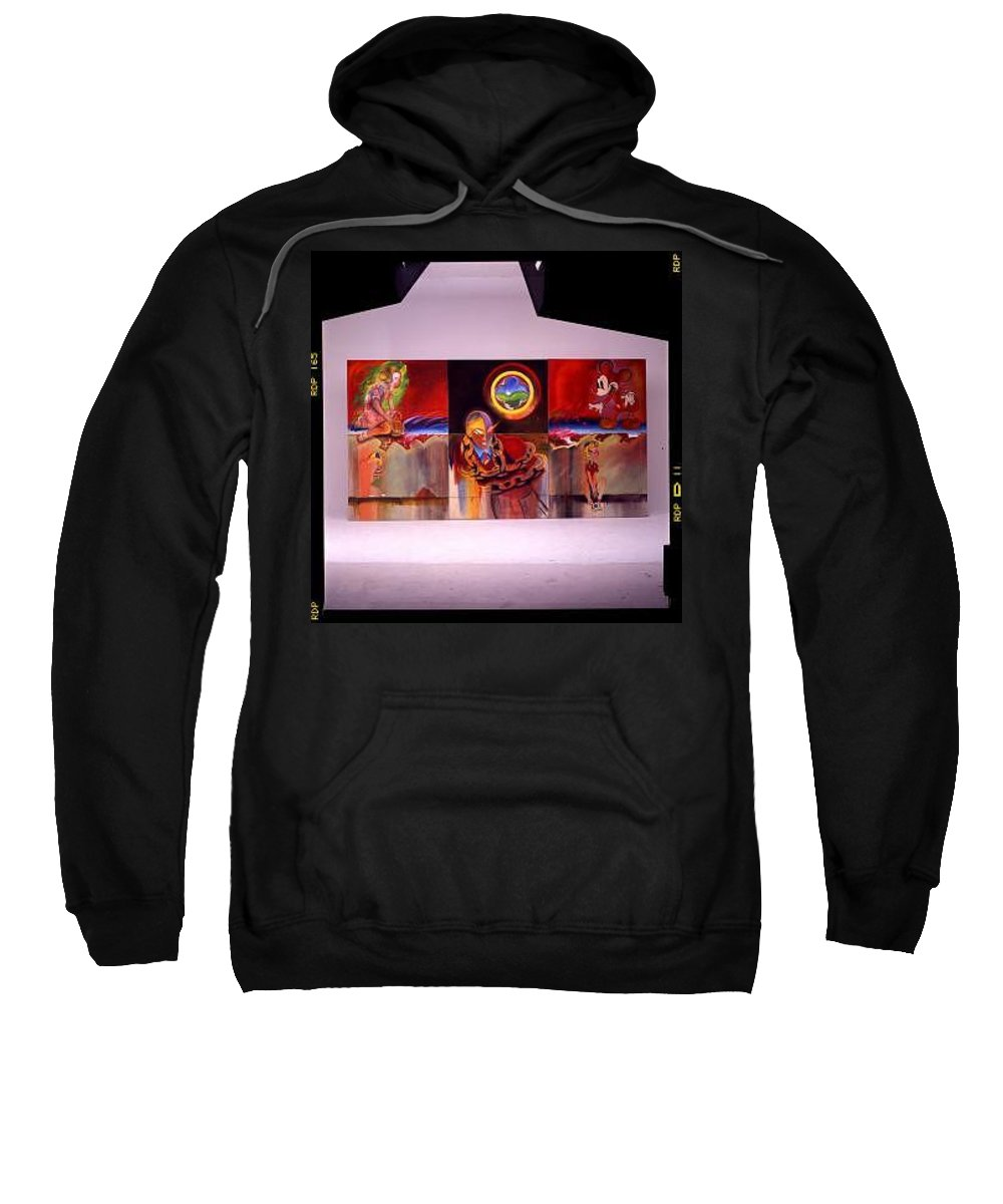 Spiderman Sweatshirt featuring the painting I Saw The Figure Five In Gold by Charles Stuart