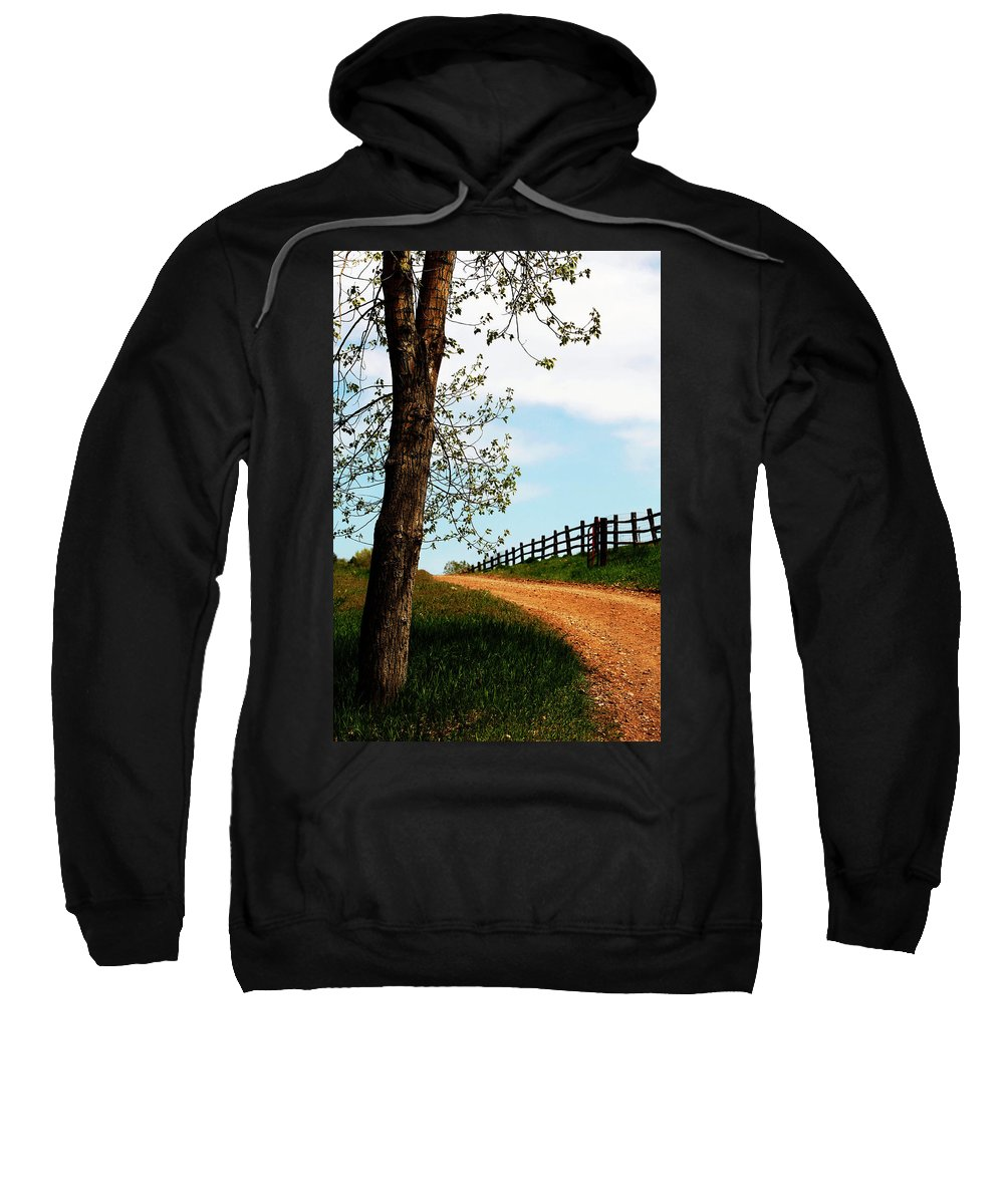 Walk Sweatshirt featuring the photograph I Walk The Gravel Road by Marilyn Hunt
