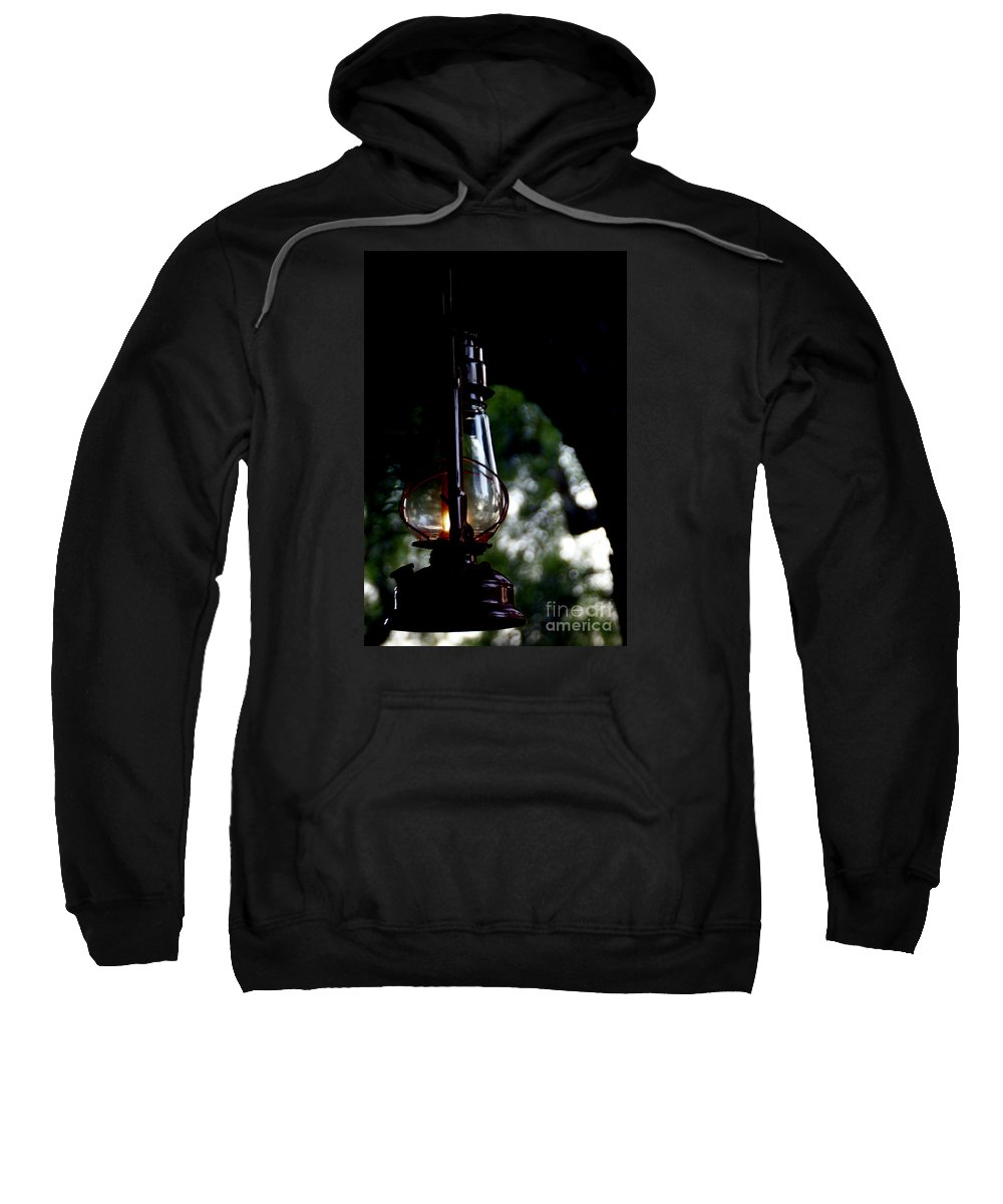 Lantern Sweatshirt featuring the photograph I Will Guide You by Linda Shafer