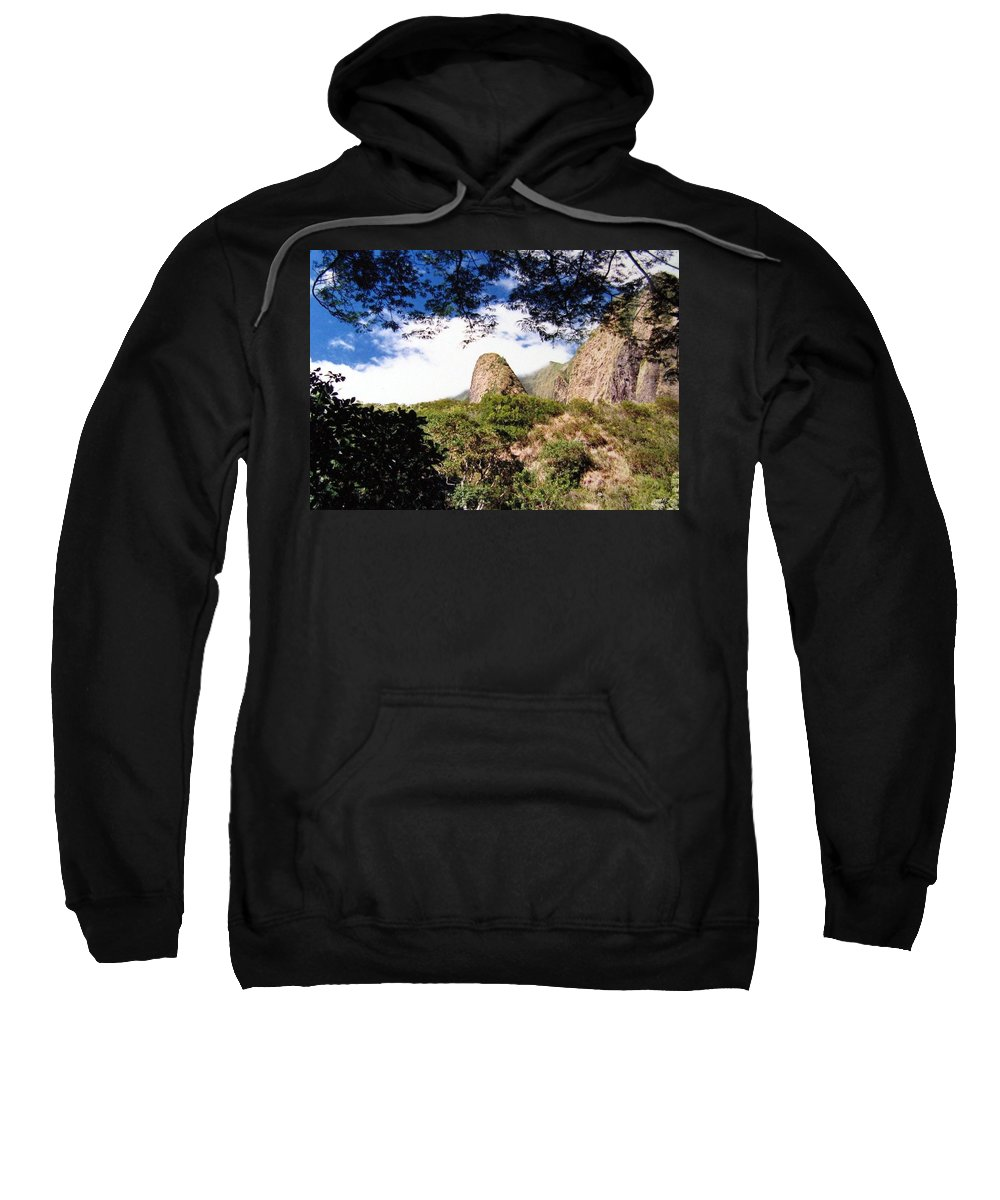 1986 Sweatshirt featuring the photograph Iao Valley by Will Borden