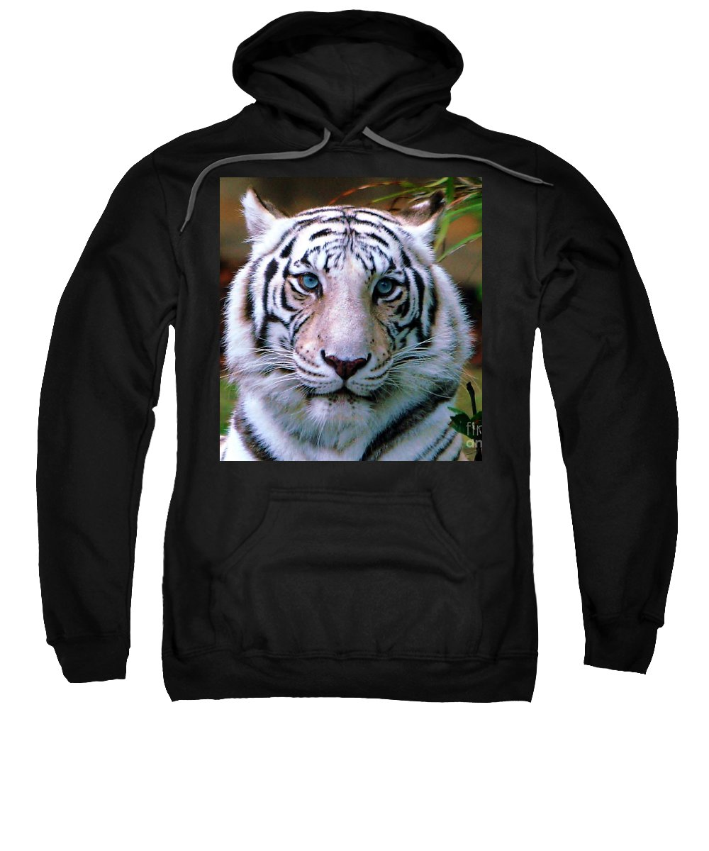 Tiger Sweatshirt featuring the photograph Ice Blue Eyes Of The Tiger by Randy Matthews