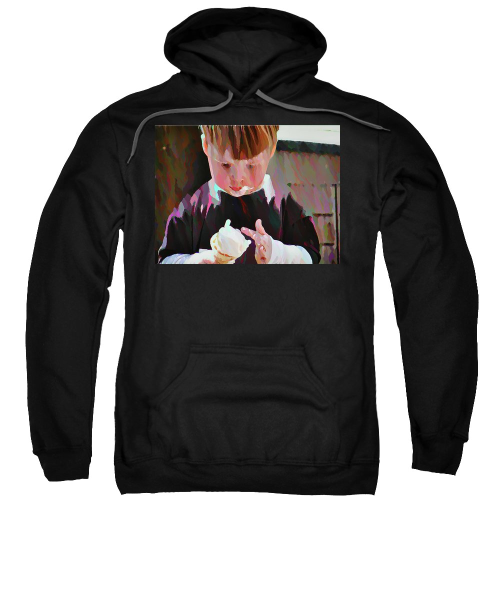 Boy Sweatshirt featuring the photograph Ice Cream Time by Bill Cannon