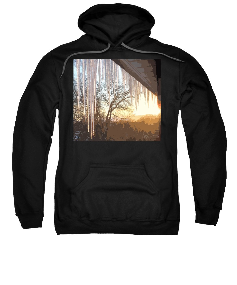 Icicles Sweatshirt featuring the photograph Icicles One by Ian MacDonald