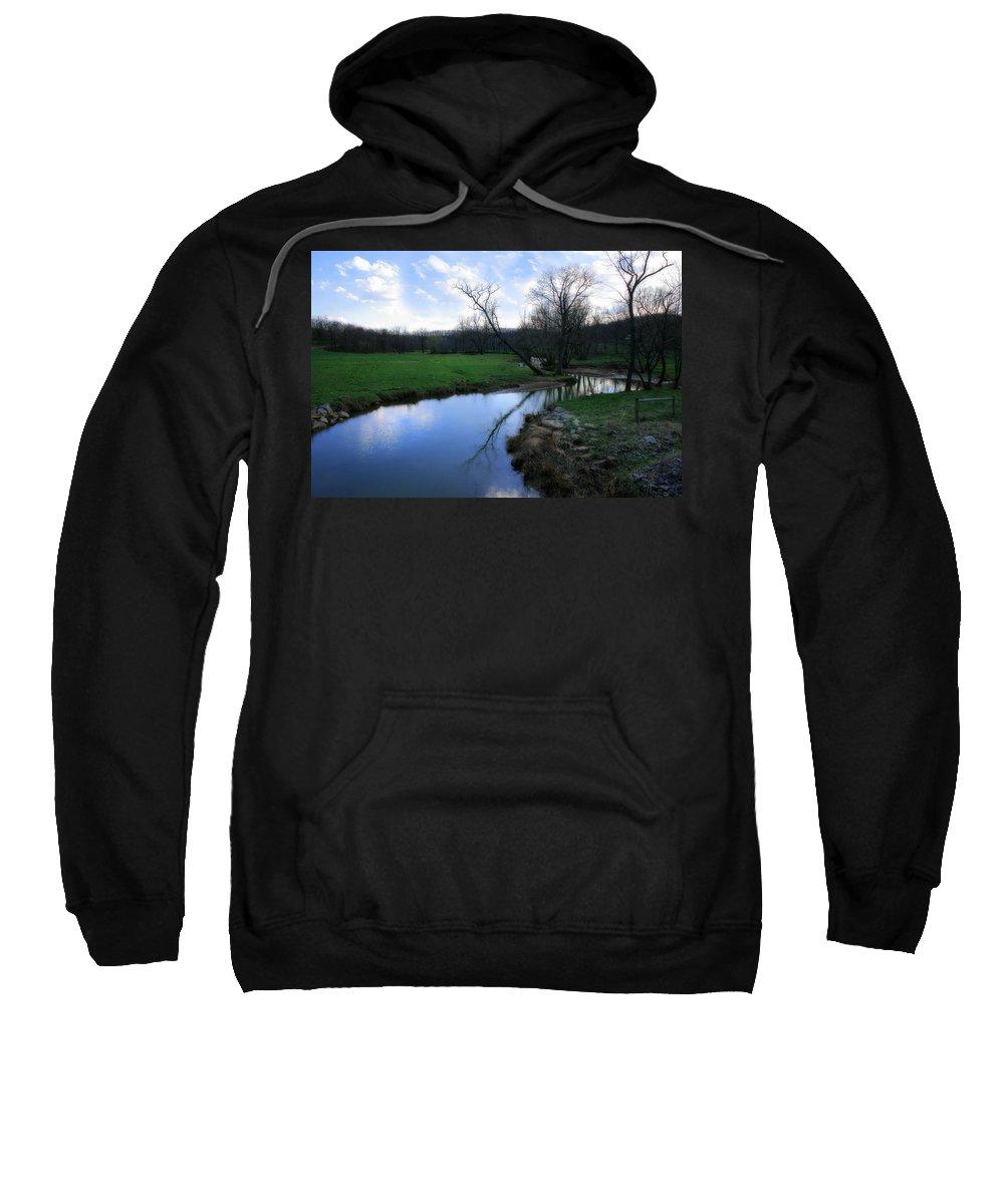 Landscape Sweatshirt featuring the photograph Idyllic Creek by Angela Rath