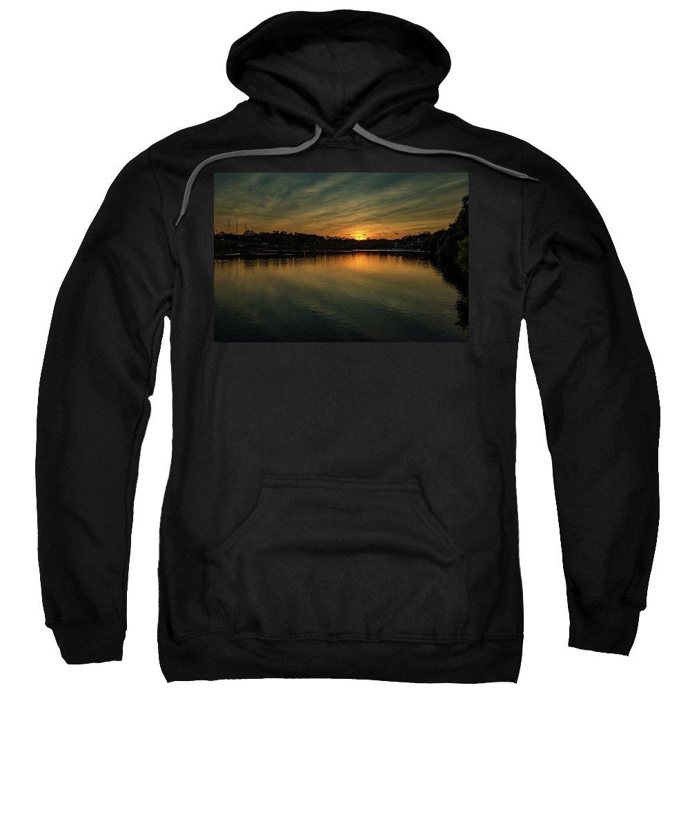 Evening Sweatshirt featuring the photograph Idyllic Philadelphia Sunset by Howard Roberts