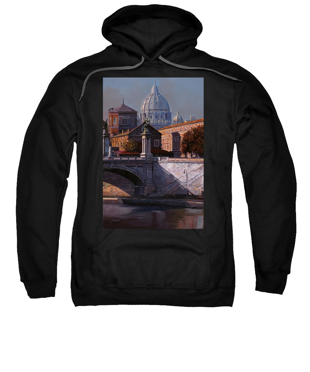 Rome Sweatshirt featuring the painting Il Cupolone by Guido Borelli