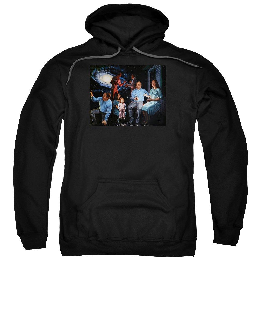 Surreal Sweatshirt featuring the painting Illumination Beyond Ursa Major by Dave Martsolf