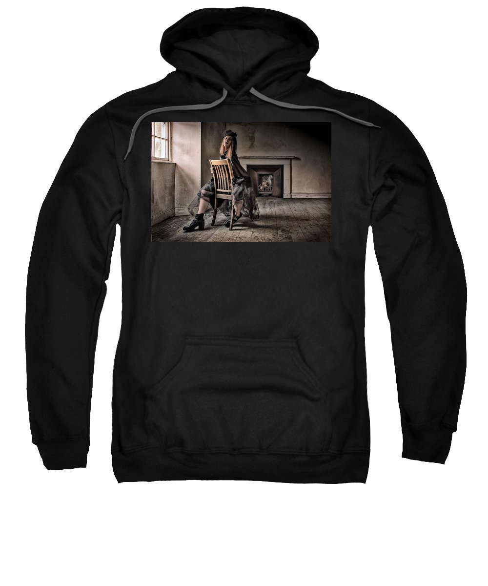 Gothic Sweatshirt featuring the photograph Ilona's Attic by David Cameron