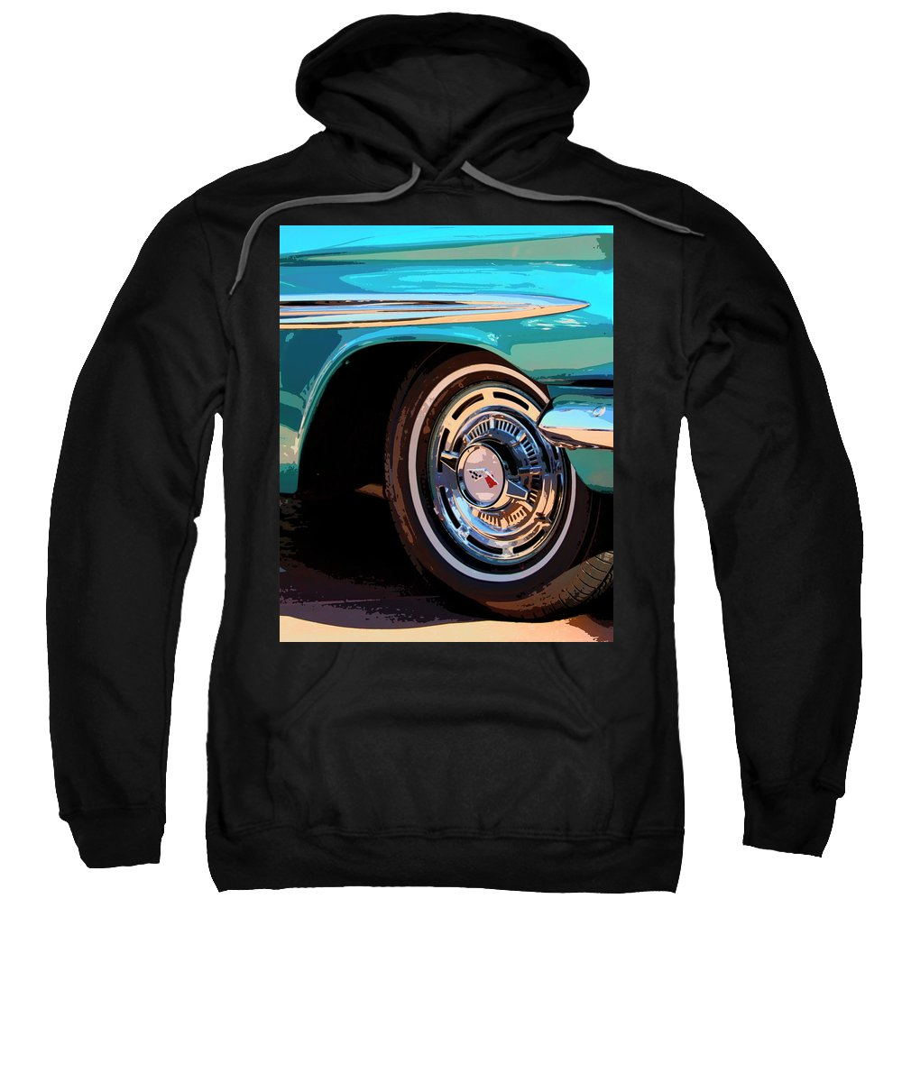 Classic Car Sweatshirt featuring the photograph Impala by William Dey