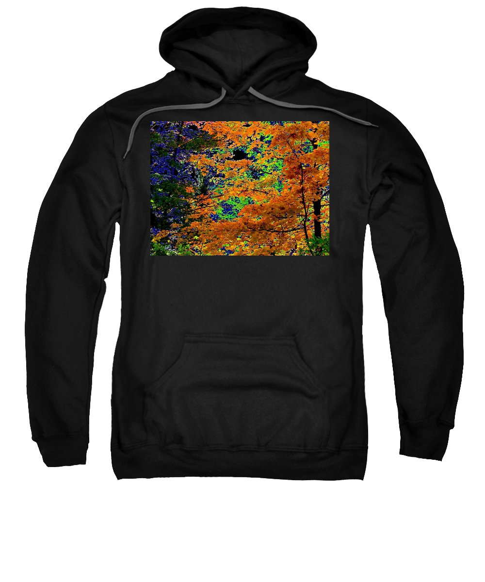Impressions Sweatshirt featuring the digital art Impressions 3 by Will Borden