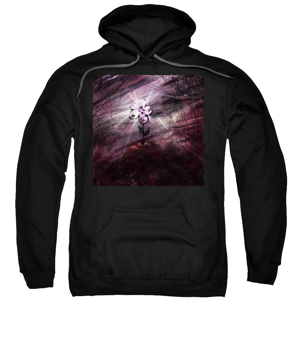 Abstract Sweatshirt featuring the digital art In All Things In Him by Rachel Christine Nowicki