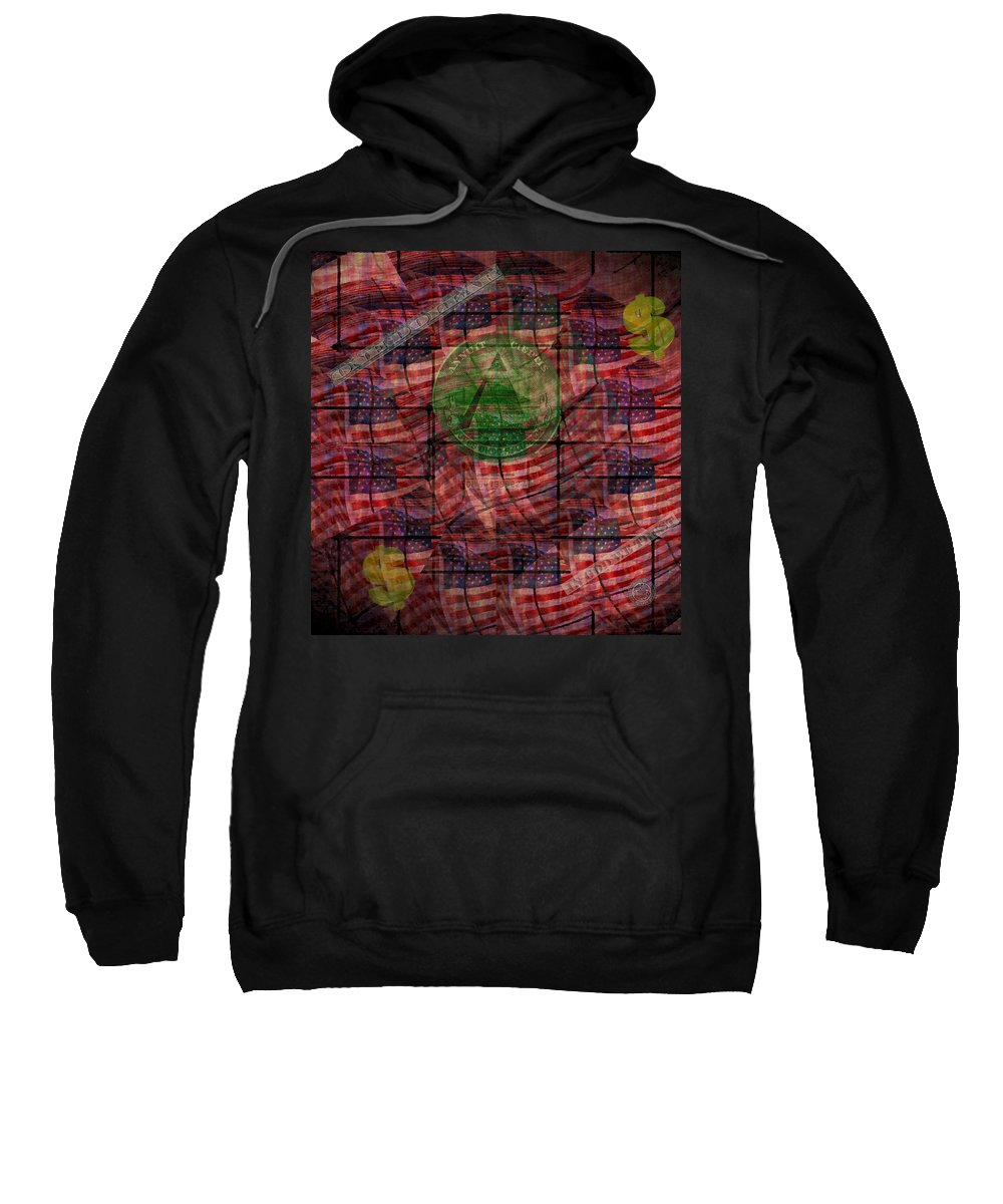 Money Sweatshirt featuring the photograph In God We Trust All Others Pay Cash by Bill Cannon