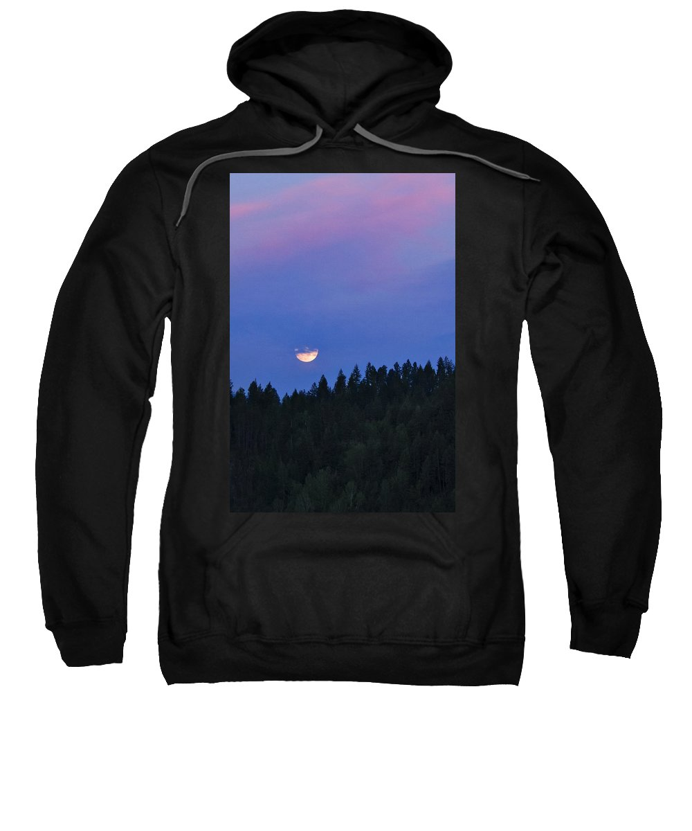 Full Moon Sweatshirt featuring the photograph In The Clouds by Albert Seger