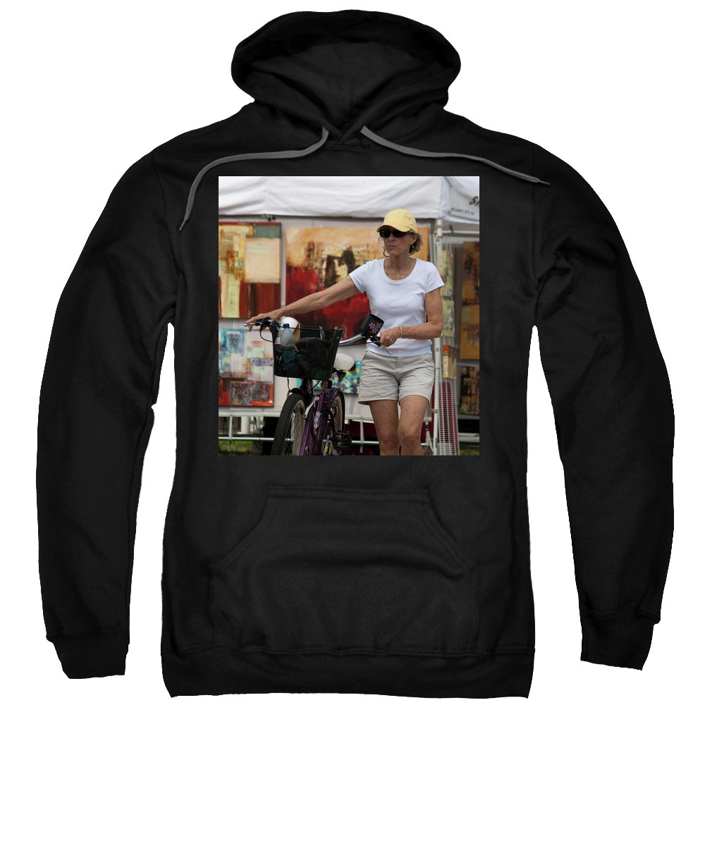 Bicycle Sweatshirt featuring the photograph In The Park by Donna Walsh