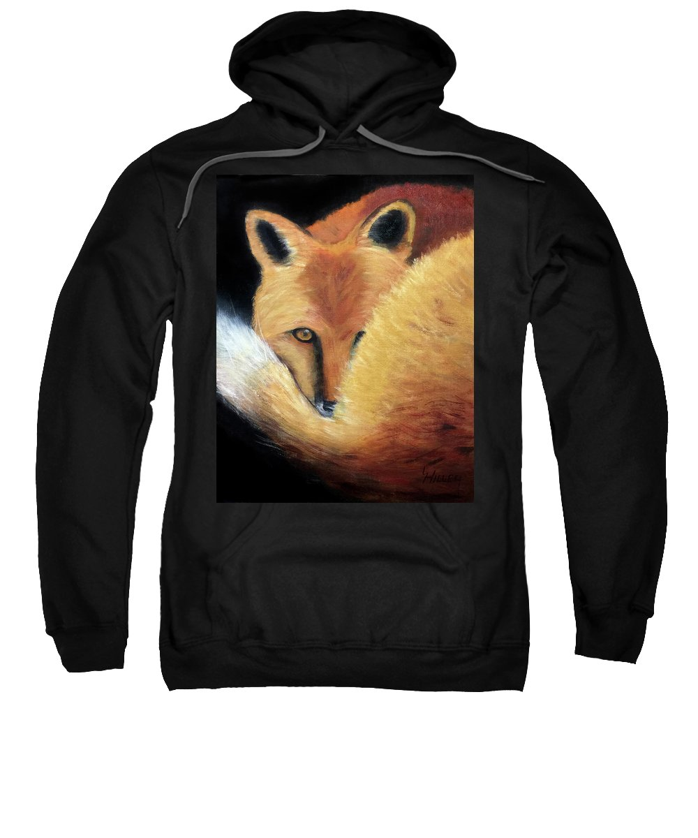 Animal Sweatshirt featuring the painting In The Shadows by Linda Hiller
