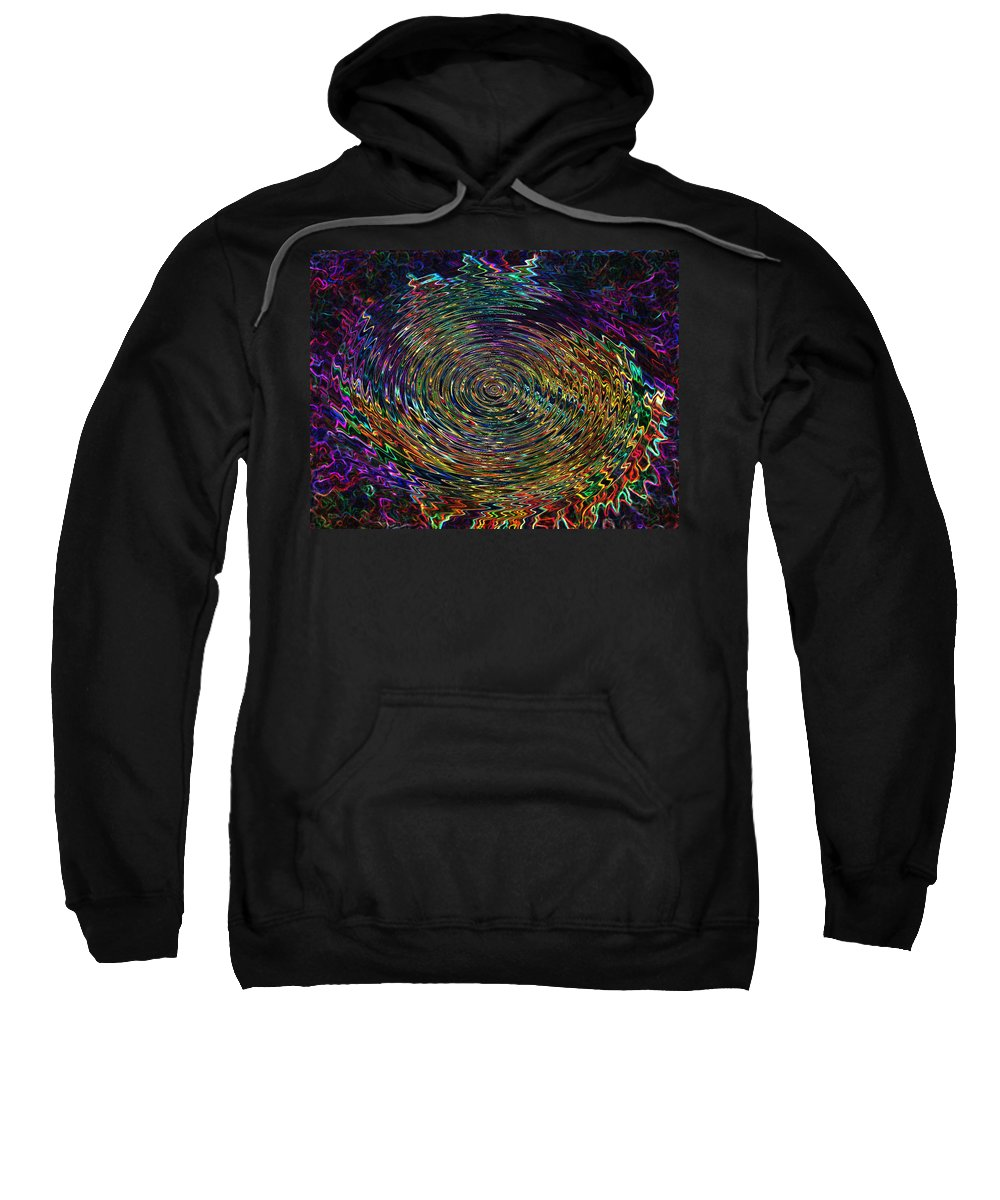 Abstract Sweatshirt featuring the digital art In The Whirl Of Light by Iliyan Bozhanov