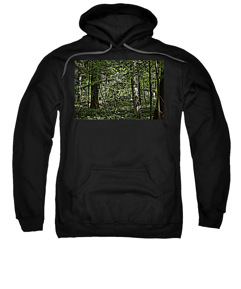 Landscape Sweatshirt featuring the photograph In The Woods Wc by David Lane