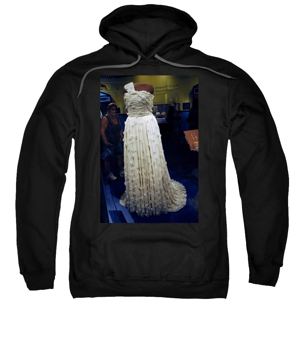 Usa Sweatshirt featuring the photograph Inaugural Gown On Display by LeeAnn McLaneGoetz McLaneGoetzStudioLLCcom