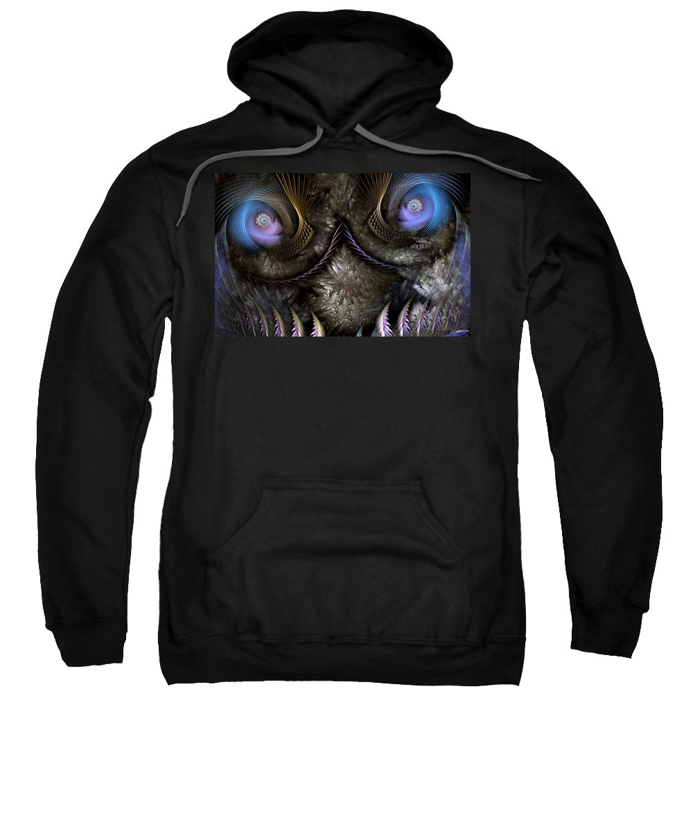 Abstract Sweatshirt featuring the digital art Incubus by Casey Kotas