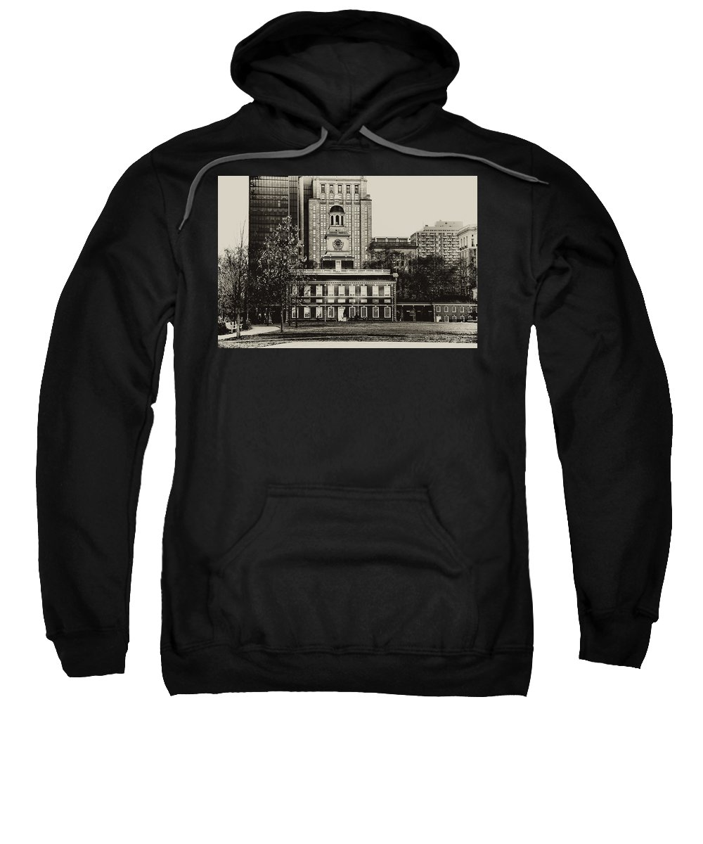 Philadelphia Sweatshirt featuring the photograph Independence Hall by Bill Cannon