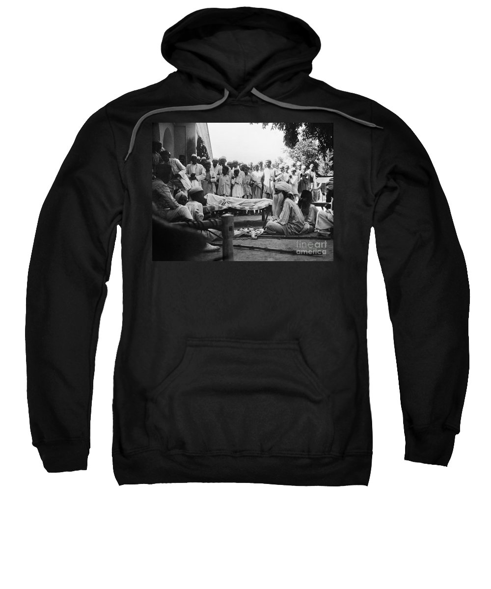 1929 Sweatshirt featuring the photograph India: Malaria Play, C1929 by Granger