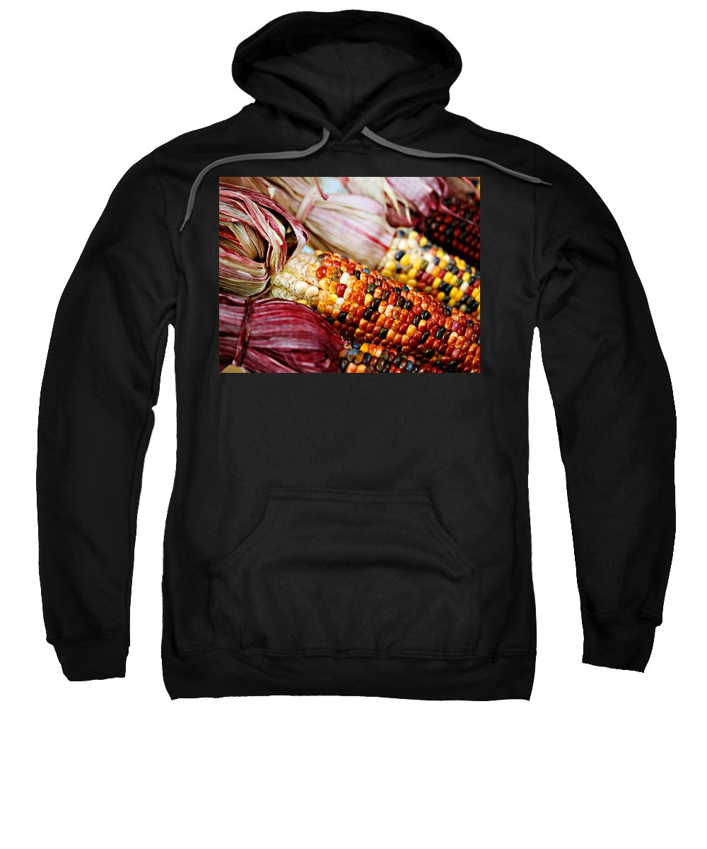Corn Sweatshirt featuring the photograph Indian Corn by Marilyn Hunt