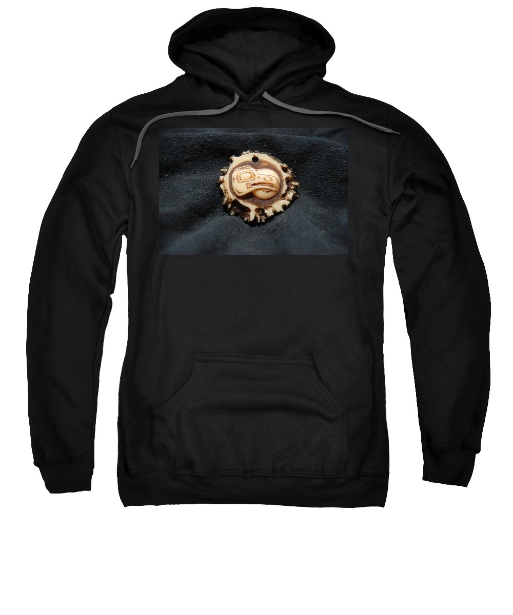 Indian Art Sweatshirt featuring the photograph Indian Eagle Head by Rob Hans