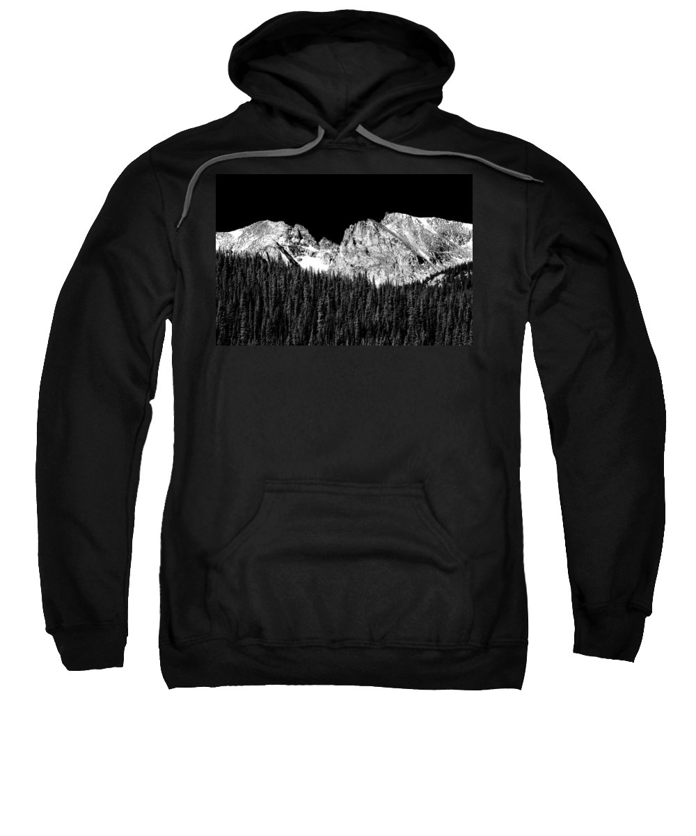 Indian Peaks Sweatshirt featuring the photograph Indian Peaks - Continental Divide by James BO Insogna