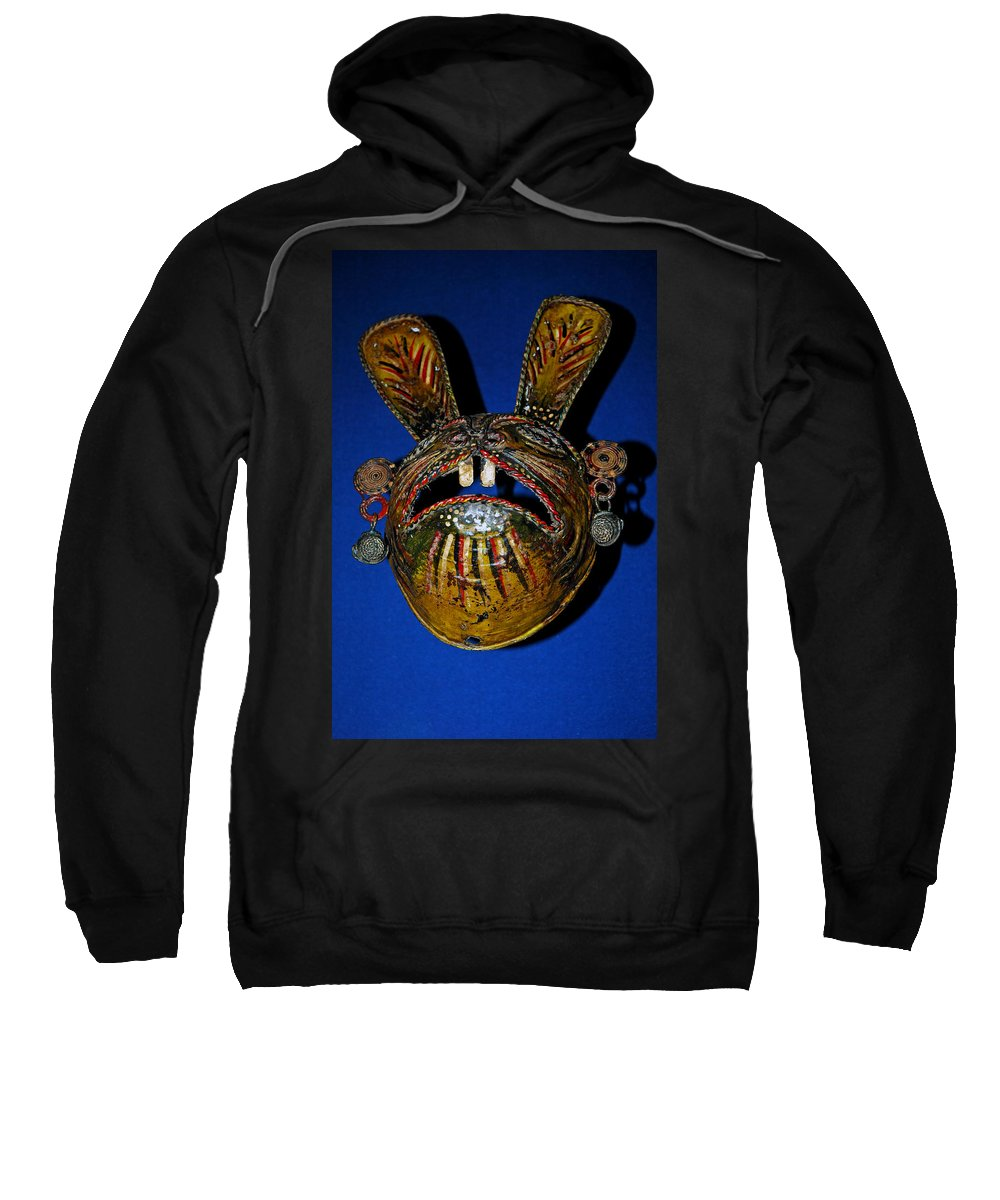 Usa Sweatshirt featuring the photograph Indian Rabbit Mask by LeeAnn McLaneGoetz McLaneGoetzStudioLLCcom
